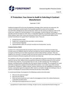 WP_34 IP Protection_Four Areas to Audit at Your Contract Manufacturer_Page_1